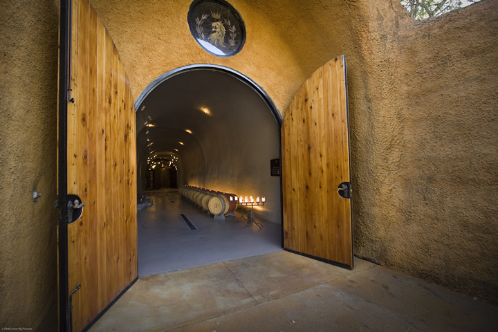 Entrance to Wine Cave at Lancaster Estate