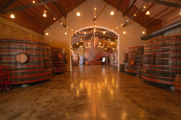 Historic Winery Barrel Room at Sebastiani