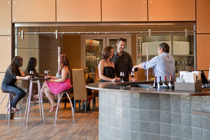 Modern Bar in Roth Tasting Room