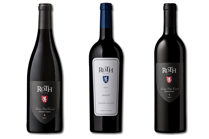 Three Bottles of Roth Red Wines