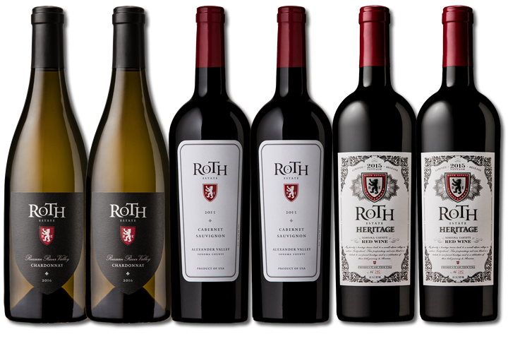 Six Bottles of Roth Red and White Wines