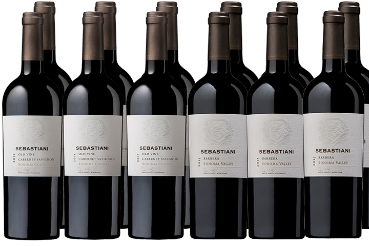 Twelve Bottles of Sebastiani Red Wines