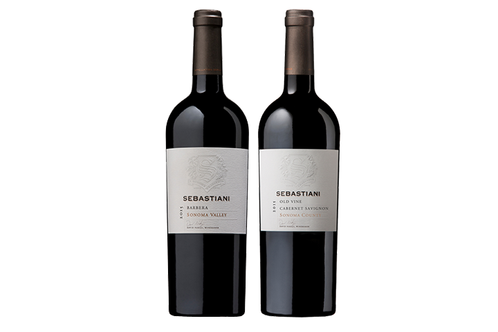 Two Bottles of Sebastiani Red Wine
