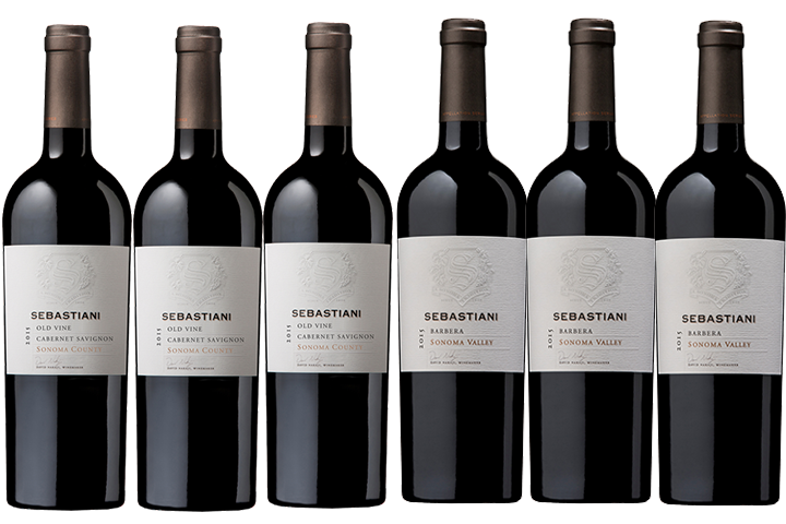 Six Bottles of Sebastiani Red Wines