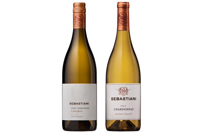 Two Bottles of Sebastiani White Wines