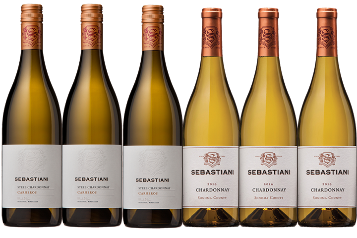 Six Bottles of Sebastiani White Wines