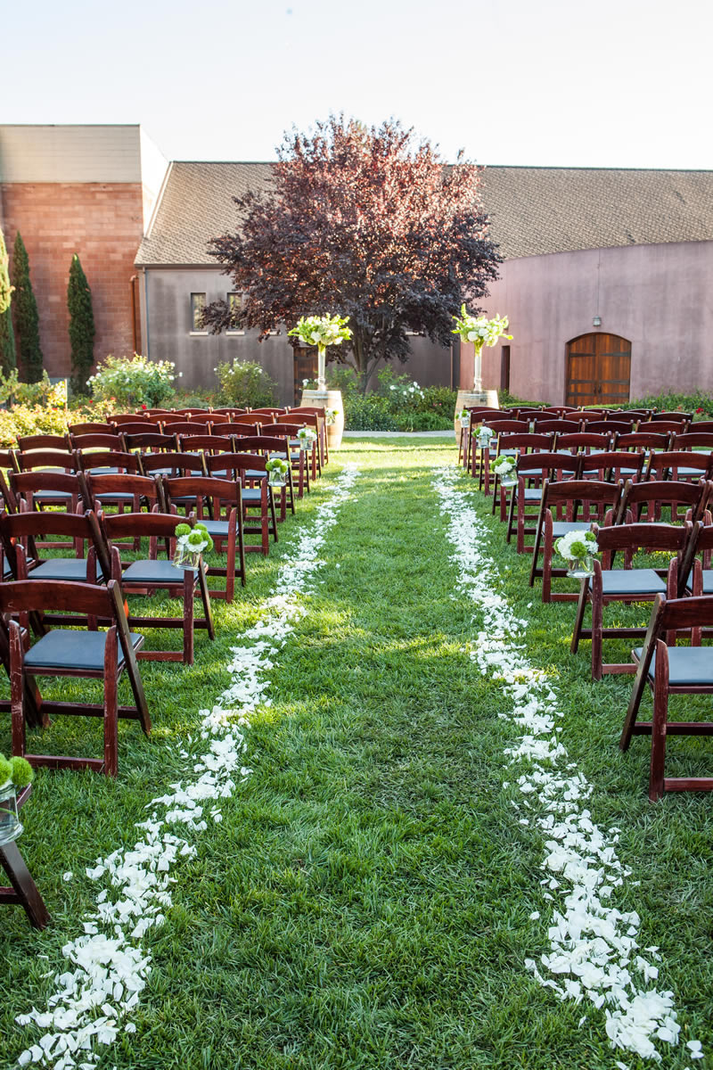 Sebastiani Outdoor Wedding with Flower-lined Aisle