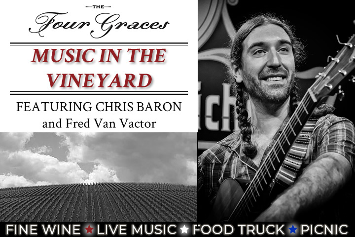 Music in the Vineyards Event Banner - August 10th from 3:30 - 8:30pm