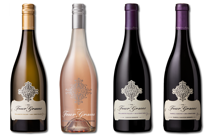 4 Bottles of The Four Graces Wines