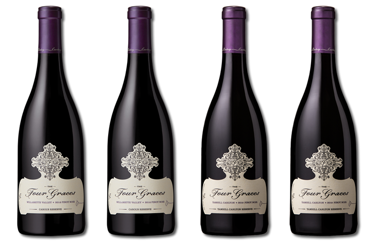 4 Bottles of The Four Graces Red Wines