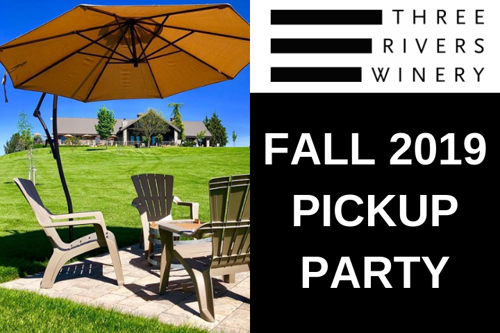 Fall 2019 Pick up party with picture of outside tasting area