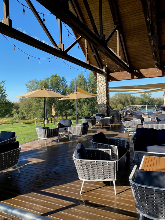 Outdoor Deck at Three Rivers Winery