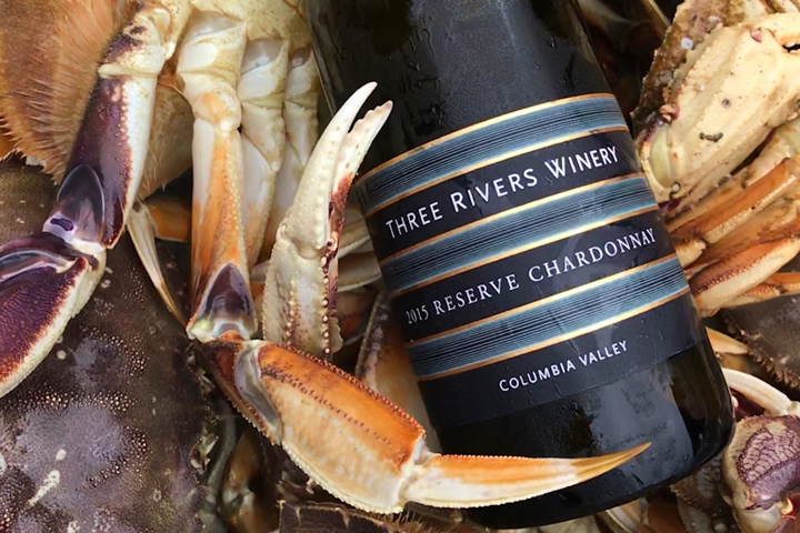 Three Rivers Winery Reserve Chardonnay Paired with Crab