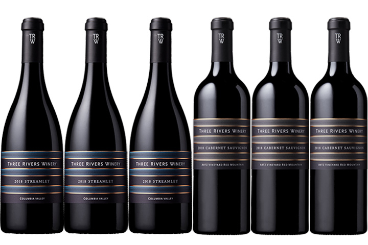 Six Bottles of Three Rivers Red Wines