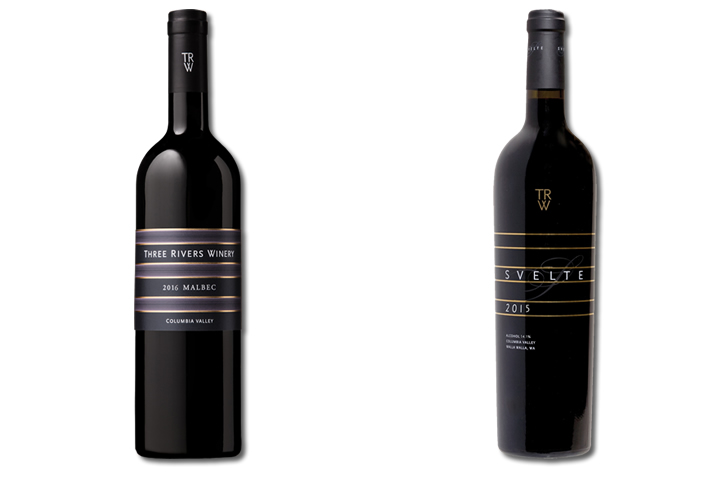 Two Bottles of Three Rivers Red Wines