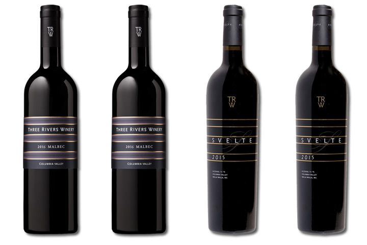 Four Bottles of Three Rivers Red Wines