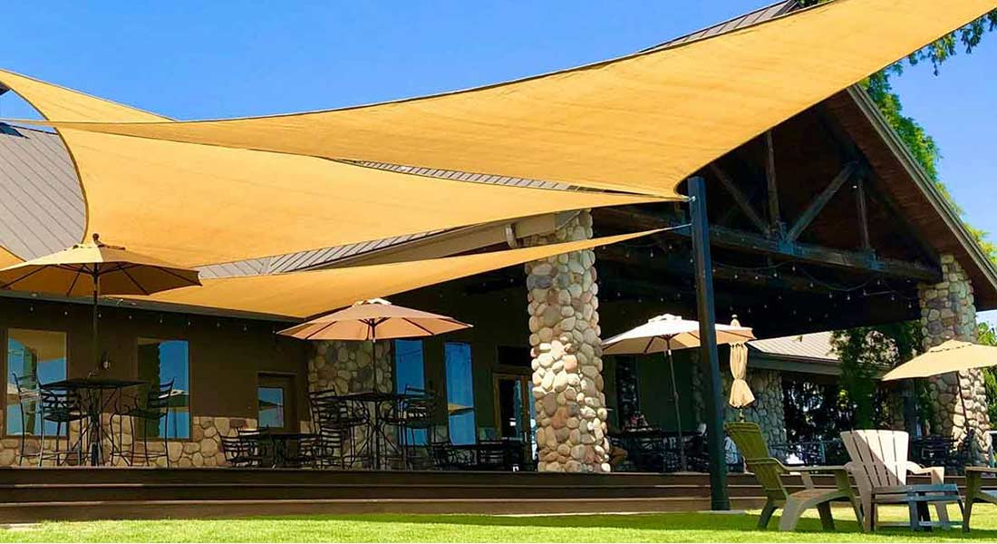 Enjoy the outdoor patio at Three Rivers