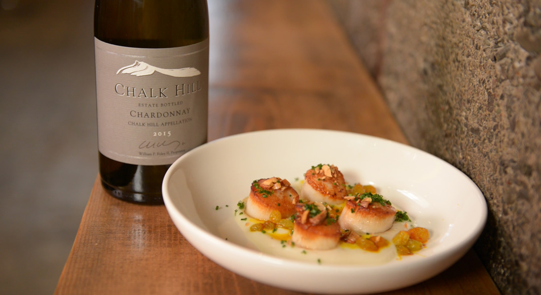 Scallops and Chardonnay