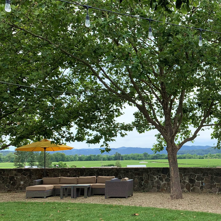 Outdoor Estate Lawn at Foley Sonoma Tasting Room