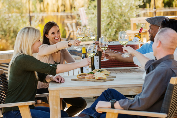 A Group Enjoying a Picnic Lunch with Roth Wine