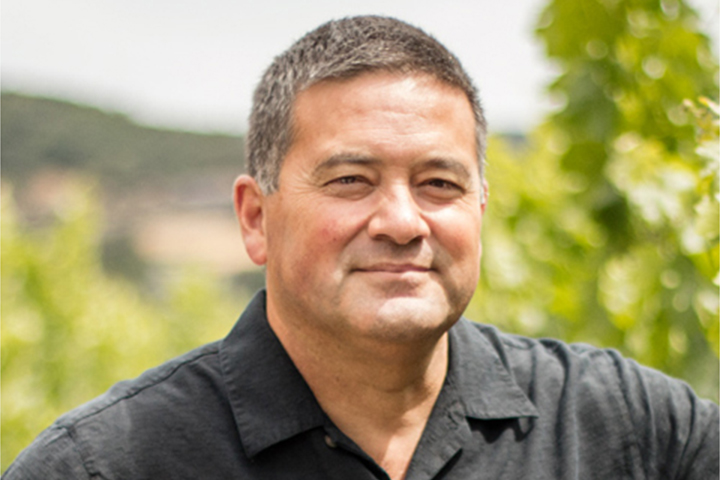 David Nakaji, Sebastiani Winemaker, in the Sebastiani Vineyards.