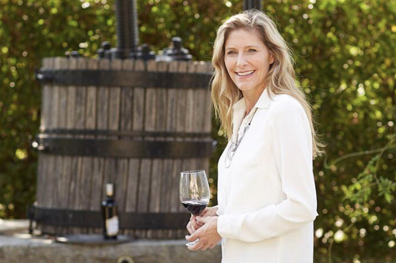 Ferrari-Carano Winemaker Sarah Quider with Wine Glass