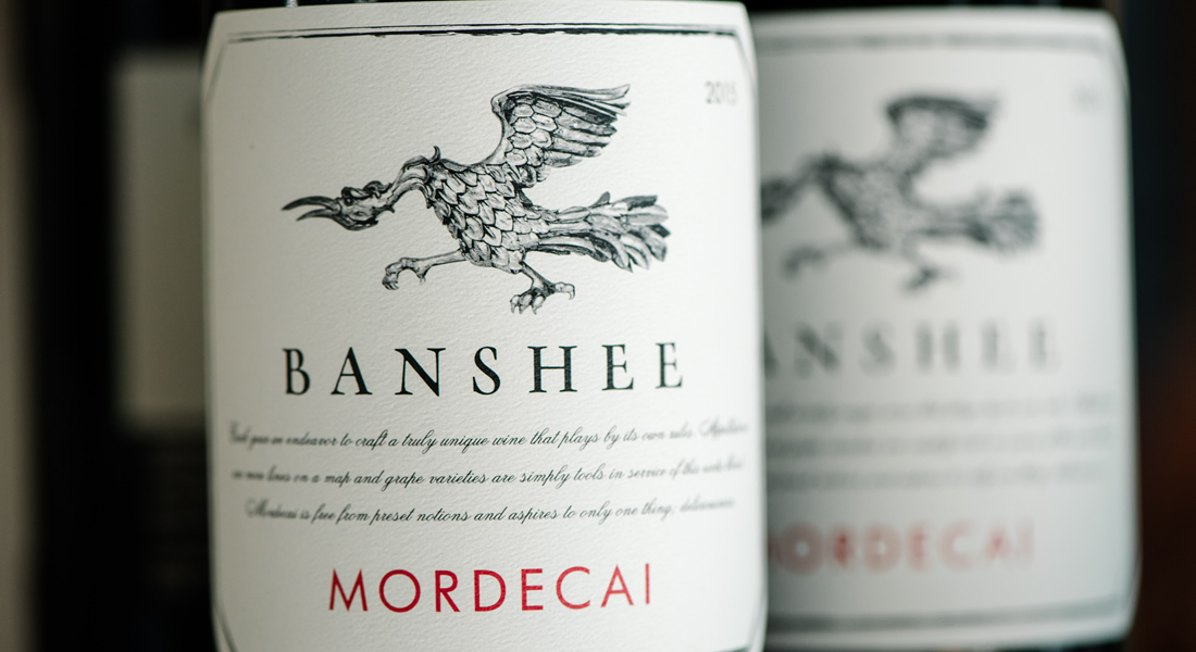 Banshee Mordecai Wine Bottle Label