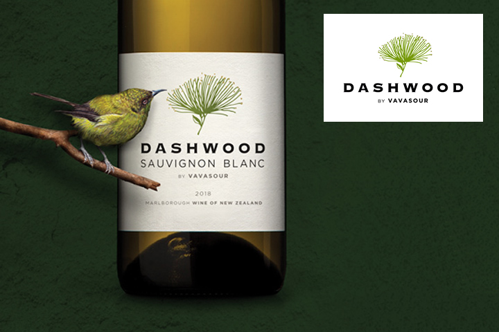 Dashwood Sauvignon Blanc Bottle with Colorful Bird