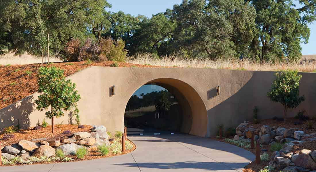 Entrance to the Foley Food & Wine Society wine cave